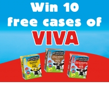 Win 10 Cases of VIVA Flavoured Milk Drinks!