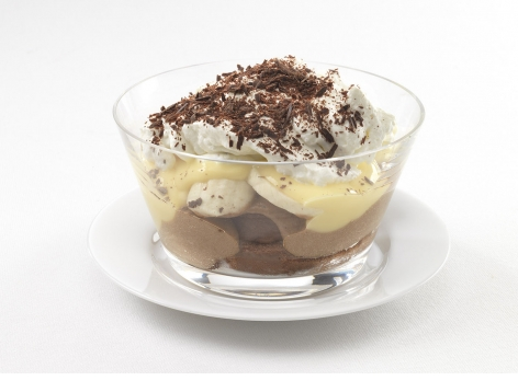 Chocolate & Custard Banana Trifle (Fortified Recipe for Care Homes)