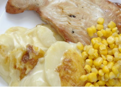 Turkey Escalope with Dauphinoise Potatoes